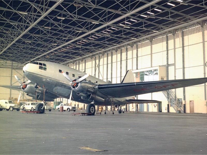 Curtis SE-CFF in the hangar in Leopoldville