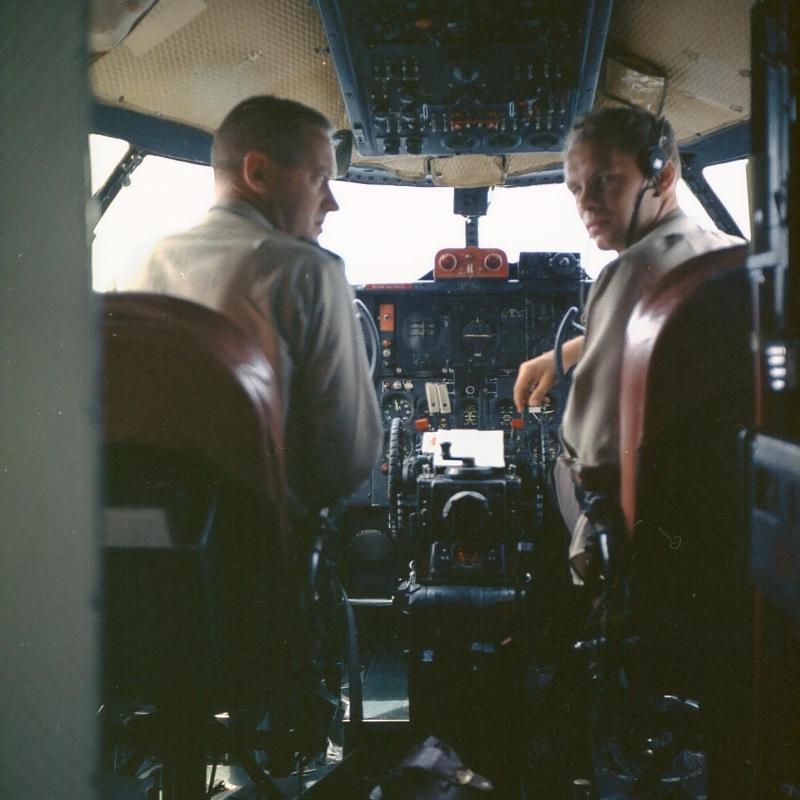 Per-Åke Insulander and Bengt Lindwall in the cockpit